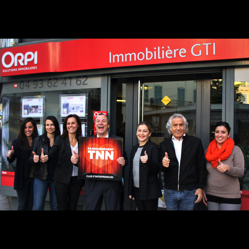 Photo du groupe GTI immobilère Orpi à Nice