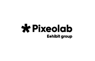 Logo Pixeolab du groupe Exhibit
